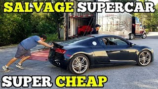 Download I Bought a TOTALED Audi R8 from a Salvage Auction & I'm going to Rebuild It! Video