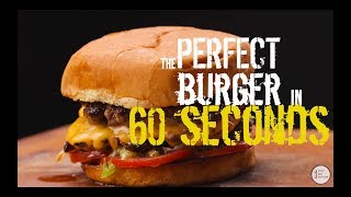 Download Perfect Hamburger in 60 seconds! - BEST Cheese Burger recipe EVER! - (Smashburger) Video
