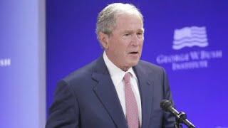 Download Former Presidents Bush, Obama speak against divisiveness Video