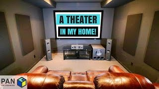 Download A MOVIE THEATER IN MY HOME !!! (MAN CAVE TOUR & HOME THEATER SETUP !!) Video