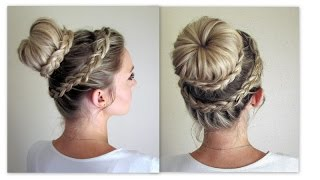 Download How to: Lace Dutch Crown Braid + Lace Dutch Braided Bun Video
