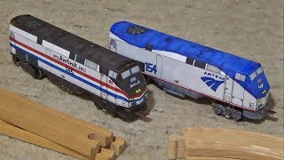 Download Custom-Built Amtrak Paper Trains! Runs on Wooden Railway Track Video