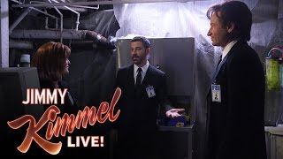Download Mulder, Scully and Jimmy Kimmel in The X-Files Video