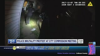 Download Group to protest police brutality at city commission meeting Video