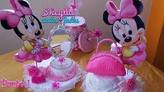 Download Como hacer centro de mesa temática de Minnie bebe, Decoración fiesta infantil, cumpleaños Video