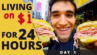 Download LIVING on $1 for 24 HOURS in NYC! (Day #1) Video