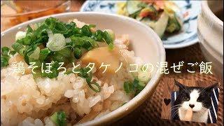 Download 鶏そぼろとタケノコの混ぜごはん Video