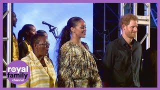 Download Prince Harry meets Rihanna in Barbados Video