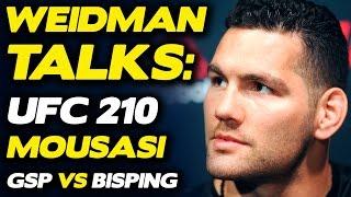 Download Chris Weidman Believes He'll BREAK Gegard Mousasi, talks GSP vs. Bisping | UFC 210 Video