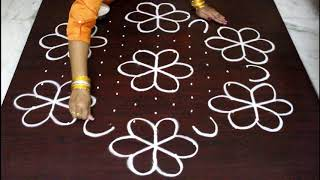 Download 13 dots Sankranthi muggulu for 2018 - pongal kolam designs with dots- easy and simple rangoli Video