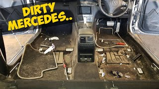 Download Cleaning a really dirty Mercedes car Video