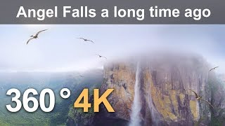 Download 360 video, Angel Falls millions of years ago. 4K aerial video Video