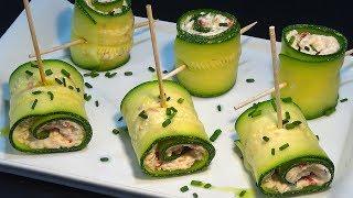 Download Receta Rollitos de calabacín con atún y queso crema - Recetas de cocina, paso a paso. Loli Domínguez Video