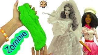 Download Zombie Bride Doll Dances & Eats Sugar Cookies - Chef Barbie Bakes Dance Party Zombies Video