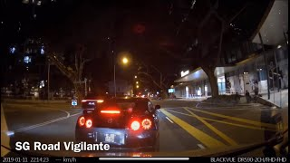 Download 11jan2019 Nissan GTR #SJR118G trying to block camcar from penang road until exeter road. Video