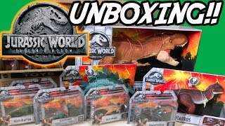 Download JURASSIC WORLD Fallen Kingdom TOYS!! | Unboxing Opening | FIRST LOOK | Mattel Video