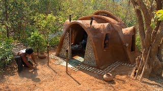 Download Build most beautiful Mud House Ancient primitive style | Primitive Technology | Building Skill Video