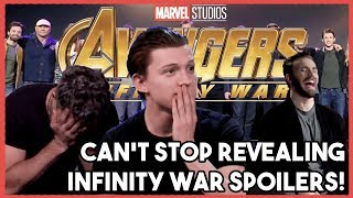Download AVENGERS Cast Can't Stop their SPOILERS! | INFINITY WAR 2018 Video
