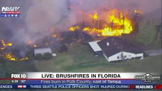 Download MASSIVE FLORIDA FIRES: Man Tries To Defend His Home With A Hose (FNN) Video