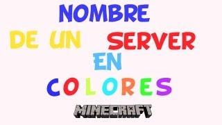 Download Como poner nombre de un server en colores minecraft Video