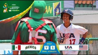 Download Highlights: Mexico v USA - Super Round - WBSC U-12 Baseball World Cup 2017 Video