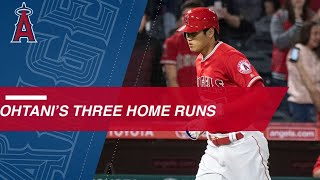Download Ohtani's trio of homers Video