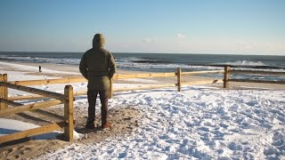 Download SURFING WINTER STORM HELENA IN NEW JERSEY Video
