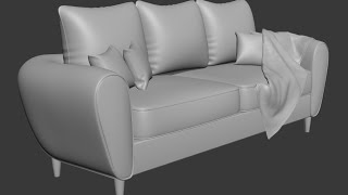 Download 3dsmax Sofa and pillow modeling Video