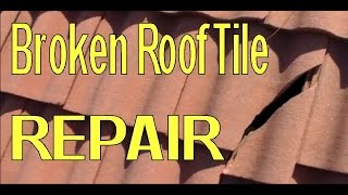 Download Repair Broken Concrete Roofing Tile Video