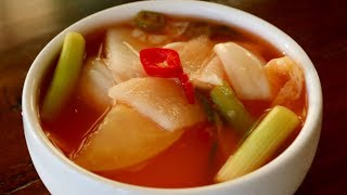 Download Vegetable and Fruit Water Kimchi (Nabak-kimchi: 나박김치) Video