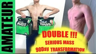Download DOUBLE SERIOUS MASS 90 DAY BODY TRANSFORMATION - Ectomorph Befor and After Video