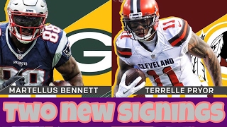 Download MARTELLUS BENNETT TO PACKERS!!! TERRELLE PRYOR TO REDSKINS!! Video