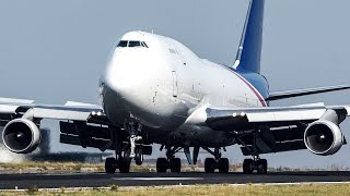 Download BOEING 747 Departure with visible ENGINE HEATFLAMES (4k) Video