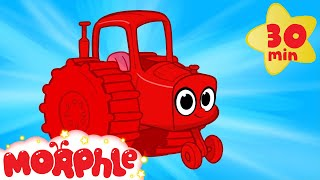 Download My Red Tractor - My Magic Pet Morphle Vehicle Compilation With Trucks Fire Trucks and More Video