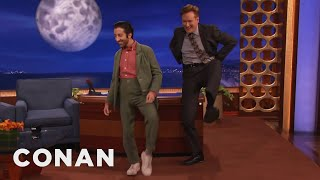 Download Simon Helberg & Conan Do The High Pants Walk - CONAN on TBS Video