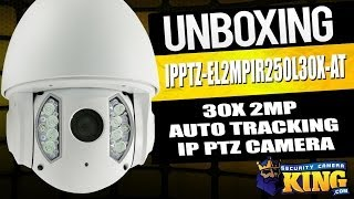 Download Unboxing: 30X 2Megapixel Auto Tracker IR IP PTZ Security Camera - IPPTZ-EL2MPIR250L30X-AT Video