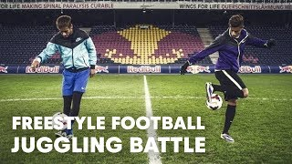 Download Hachim Mastour vs. Neymar Jr. - Freestyle football juggling battle Video