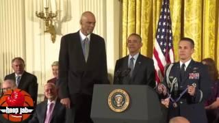 Download President Barack Obama Presents Kareem Abdul Jabbar With The Medal Of Freedom. HoopJab NBA Video