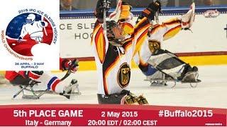 Download Italy v Germany | 5th place | 2015 IPC Ice Sledge Hockey World Championships A-Pool, Buffalo Video