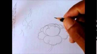 Download สอนวาดลายดอกพุดตาล วาดตามได้ทันที Video