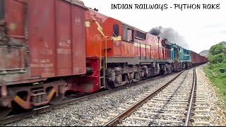 Download Priority Longest Python freight - GY Turquoise Sandwich in action : Indian Railways Video