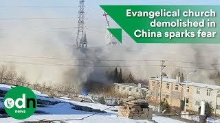 Download Evangelical church demolished in China sparks fear Video