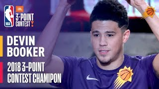 Download Devin Booker Wins the 2018 JBL Three-Point Contest   Record Setting Round with 28 3's Video