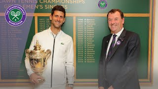 Download Wimbledon 2019 Champion Novak Djokovic walks through Centre Court Video