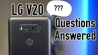 Download Most Common LG V20 Questions Answered- Battery Life, Cases, Camera, Speaker, VS iPhone, & More Video