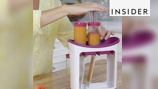 Download The Infantino Squeeze Station let's you make your own baby food Video