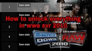 Download How to unlock all characters in wwe svr 2010 Video