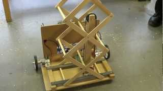 Download Student Robotics - ThunderBots - Scissor Lift prototype with pulley system V01 Video