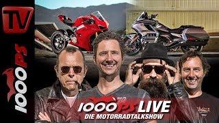 Download 1000PS Live - Die Motorradtalkshow - Panigale V4 und Goldwing im Test Video