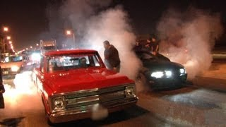 Download L.A. Street Racing - 1000hp + Nitrous C10 vs 700hp Mustang Video